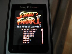 Street Fighter II demo on Sony Ericsson