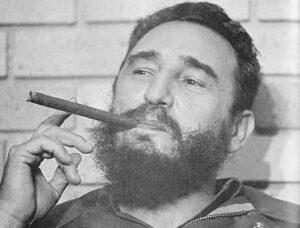 Fidel Castro beard cigar
