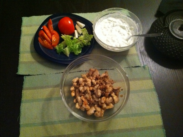 tzatziki vegetables chicken