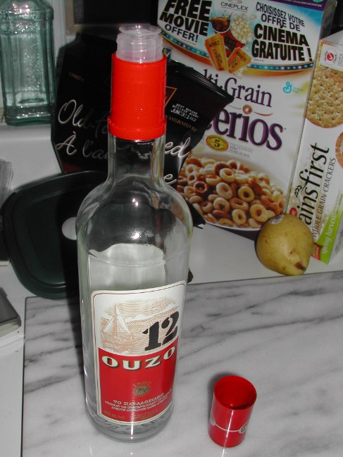 bottle of ouzo