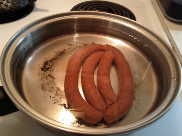 boil those merguez sausages