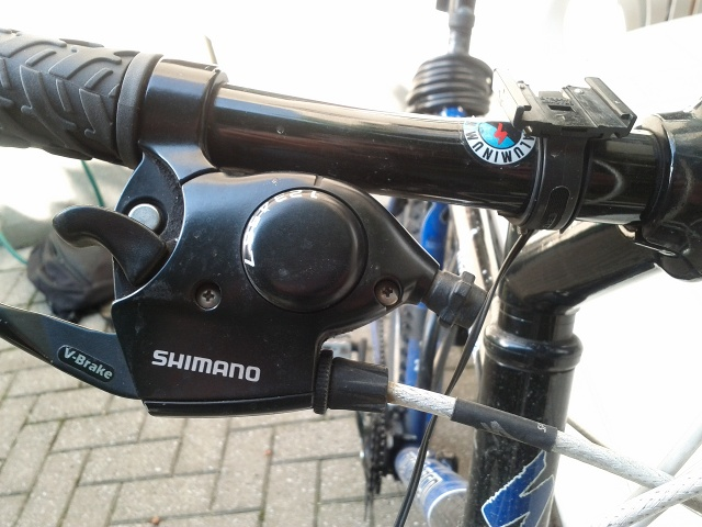 shimano click shift gear brake system