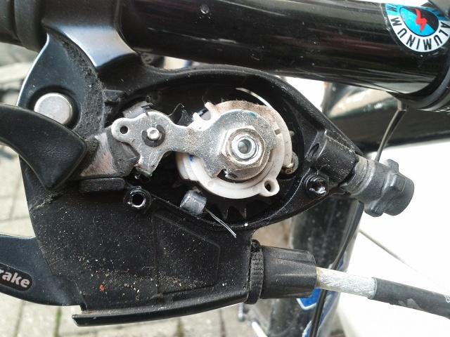 shimano click shift opened