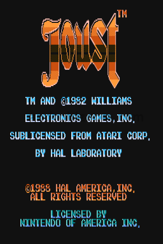 Williams Joust for android splashscreen