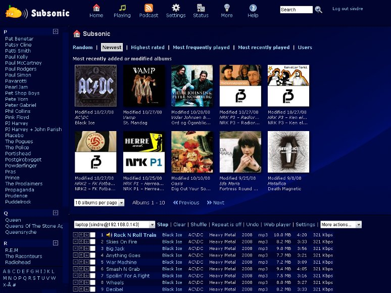 subsonic 4.6 screenshot